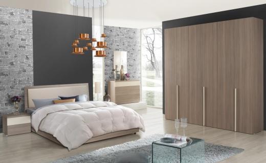 Design Schlafzimmer in Braun Beige Soraja 4-teilig