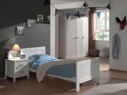 Kinderbett Set Iny 3-teilig in Weiß MDF