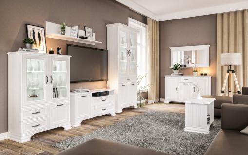 Wohnzimmer Kombi Weiß Landhaus Juna 4-teilig