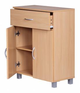 Sideboard Buche 60 x 75 cm mit 2 Türen & 1 Schublade - Vorschau 3