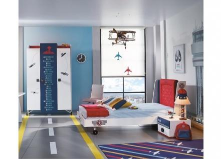 Almila Kinderzimmer komplett Set Flugzeug Pilot 3-teilig