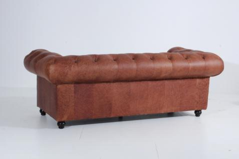 Sofa 2, 5-Sitz Orleans Antikleder, cognac