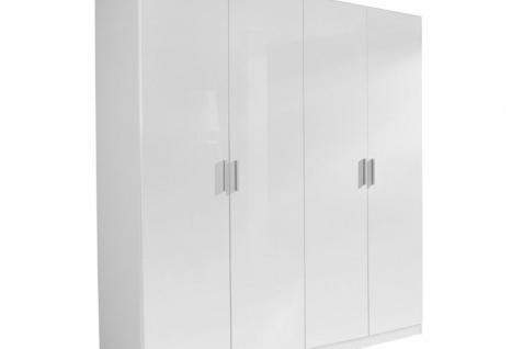 Drehtürenschrank CELLE weiß / alpinweiß 181 x 197 x 54 cm