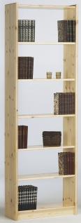 Regal Kiefer Natur Romana mit sechs Fächern
