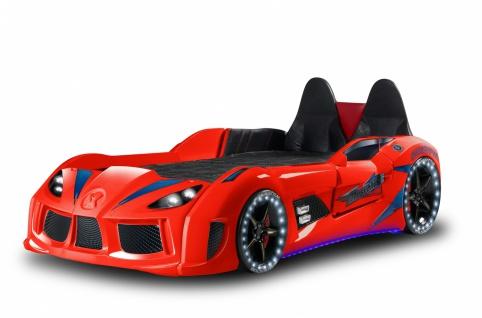 Autobett MVN Bumer mit LED und Sound Rot