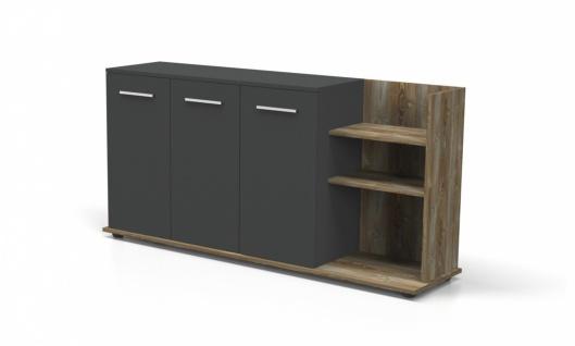 Sideboard Büro Holz Optik Dinamo 3-türig