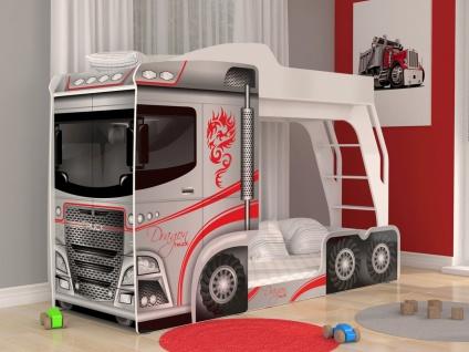 Etagenbett Mega Truck mit integriertem Schrank