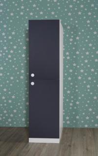 Schmaler Kleiderschrank in Anthrazit Puzzle 2-türig
