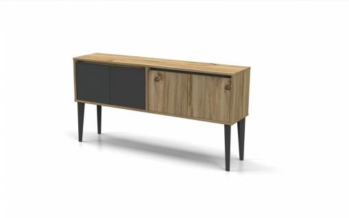 Sideboard Holz Optik hell Icono Plus 4-türig