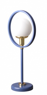Almila Tischlampe Elegant Blue mit Goldenen Details