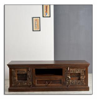 TV-Unterschrank Almara aus dunkelbraunem Holz