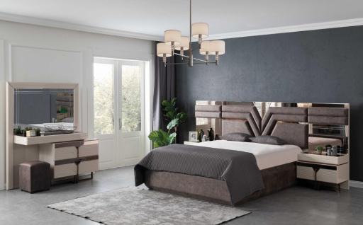Lidya Schlafzimmer Set Collvan mit Bett in 160x200 cm