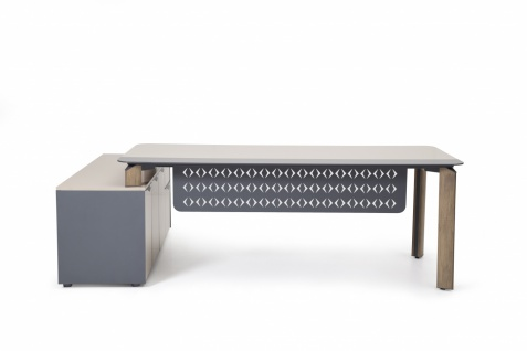 Ovali Design Schreibtisch 2-teilig Twist L2 200x90 cm