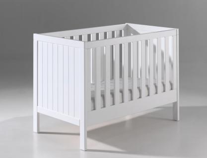 Babybett Iny 60x120cm in Weiß MDF