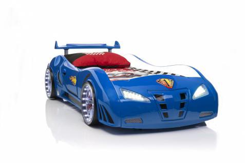 Autobett BluCar blau mit Fernbedienung - Vorschau