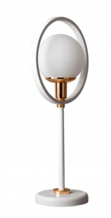 Almila Nachttischlampe Bella in der Farbe Weiß/Gold