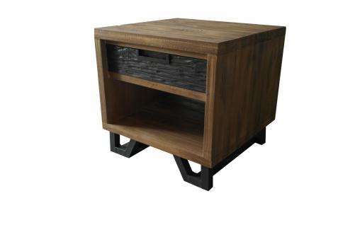Nachttisch Holz Itiner mit 1 Schublade und Metallgestell