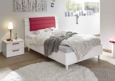 Design Jugendbett Space Kopfteil Weiß 90x200