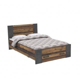 Jugendbett Holz Optik Cleo 140x200