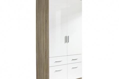 Drehtür-Kombischrank CELLE II weiß / Eiche Sonoma 91 x 210 x 54 cm