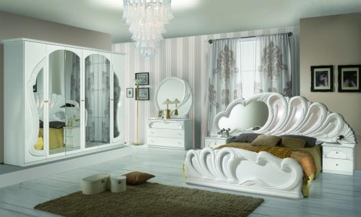 Design Schlafzimmer Weiß Ariana mit 4-türigem Schrank