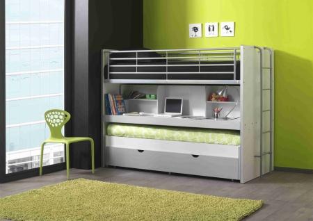 Bunny Hochbett 90x200 mit Gästebett in verschiedenen Farben