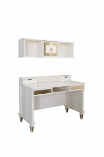 Design Schreibtisch Art Deco mit Wandregal