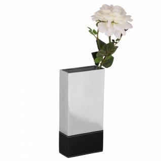 Design Deko Vase Square M Blumenvase aus Aluminium Tischvase Farbe Silber
