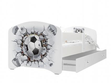 Kinderbett Lizzi mit Matratze 80x180 Fußball