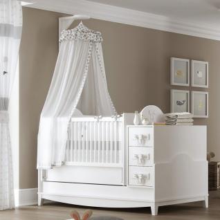 Babybett Weiß Spotty mitwachsend 80x130-180