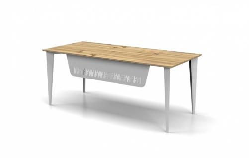 Schreibtisch Holz Optik Weiß Icono Lux 180x80