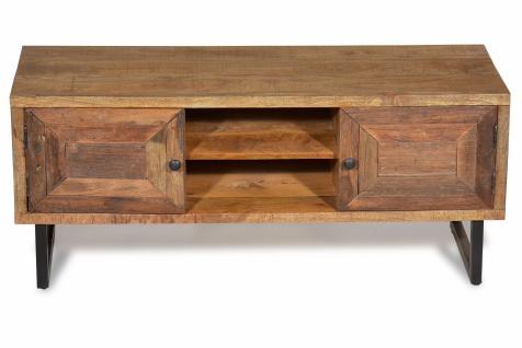 TV Lowboard recyceltem Teak Parquett 2-türig