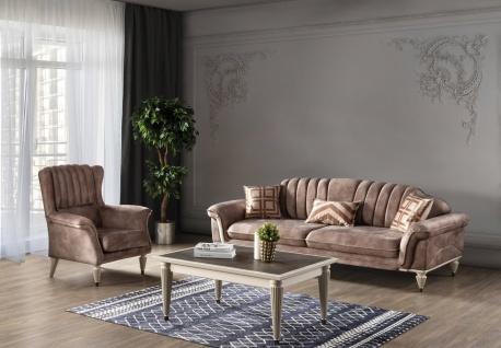 Kleine Sofa Garnitur Nirvana mit Schlafsofa & Sessel
