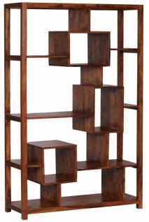 Design Sheesham Massivholz Bücherregal 115 x 40 x 180 cm (B/T/H)
