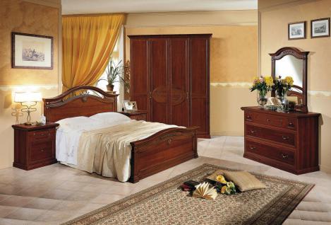 Schlafzimmer Komplett Barock Panormi 4-teilig Walnuss
