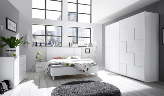 Design Schlafzimmer komplett Ottea 4-teilig 220cm