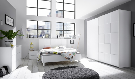 Schlafzimmer in Weiß Ottea 4-teilig 180x200 - Vorschau 1
