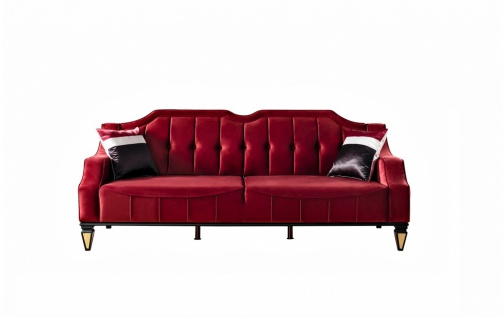 Sofa Kanyon in Rot mit verstellbarer Rücklehne - Vorschau 1