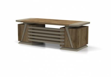 Büro Schreibtisch Relix in Holz Optik Beige