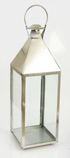 Deko Laterne Lumina aus vernickeltem Stahl