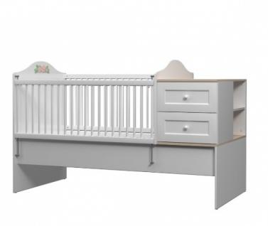 Mitwachsendes Babybett Bianca Baby mit Kommode - Vorschau 1