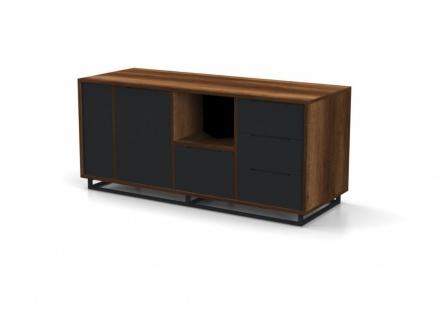 Büroschrank Kafes Holz Optik Grau 2-türig