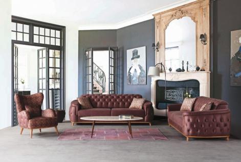 Design Couch Garnitur Halley Wildlederoptik