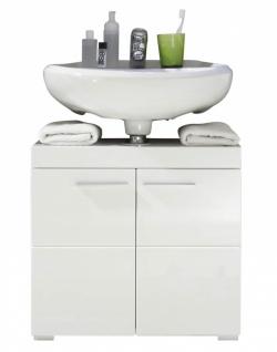 Waschbeckenunterschrank Weiß Glanz Broney