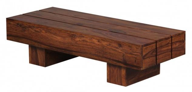 Sheesham Couchtisch Massiv 120 x 45 x 30 cm Massivholz