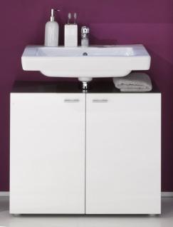 Waschbeckenunterschrank Dafne Weiß Graphit