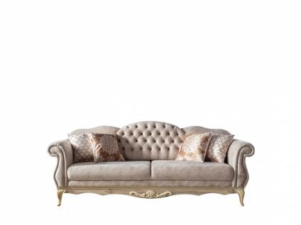 Sofa Balat 3-Sitzer mit Schlaffunktion in Creme