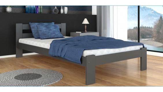 Modernes Bett Ariza mit Matratze Grau 120x200