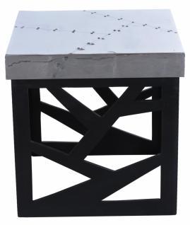 Hocker Homin mit quadratischem Aufbau in Silber