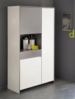 Küchenbuffet Revers 3-türig in Weiß und Grau
